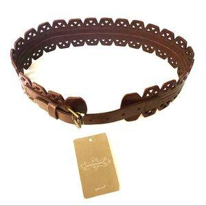 Anthropologie Brown Waist Belt Size Small
